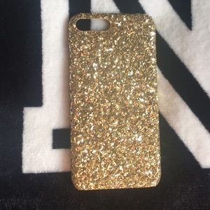 Accessories - Gold glitter iphone 7/8 plus